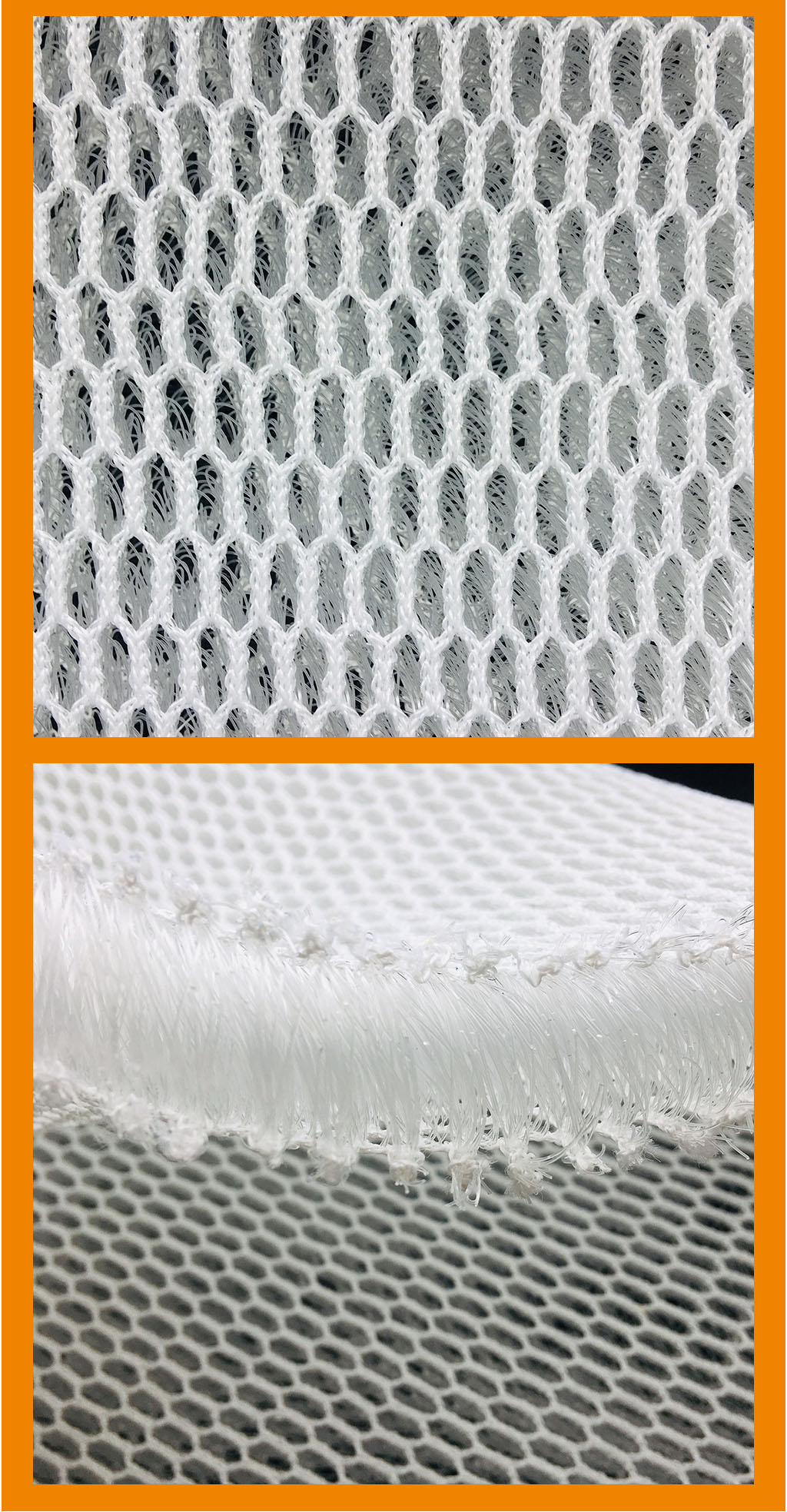 washable polyester 3d fabric for medical mattress in knitted