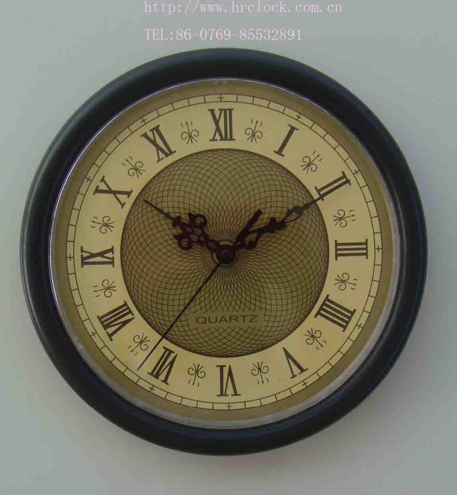 Vintage style brown/customized colors plastic wall clock with Roman numerals