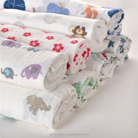 wholesale organic cotton muslin fabric for baby