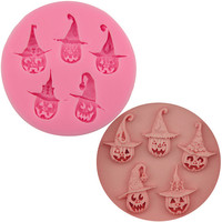 Pumpkin head shape Amazon wholesale silicone chocolate mold halloween, Food grade silicone chocolate mold halloween