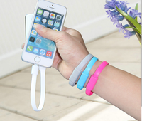 Christmas gift colorful 22cm mini Wrist usb charger cable for Samsung Galaxy bracelet