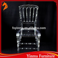 2016 strong quality beautiful clear napoleon chair from cixi yongye