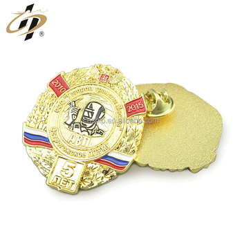 Shuanghua factory custom enamel gold metal military lapel pin