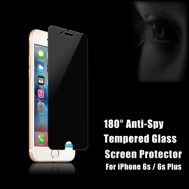 2017 newest ! OEM / ODM 180 degree 2.5D 9H anti-spy mobile cell phone privacy tempered glass screen protector for iphone 6 / 6s