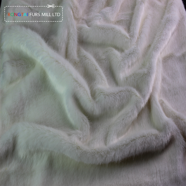 RONGTAI white faux fur,a <strong>manufacture</strong> of handbags fabric,white fur for bunny suit