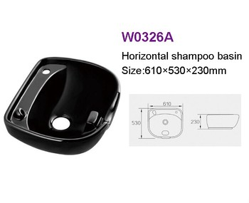 Hot Sale Ceramic Hair Salon Shampoo Basin Sink W0326A