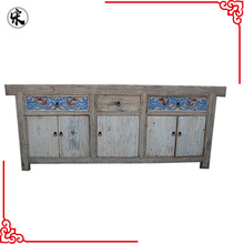 Beijing factory wholesale reproduction natural wood color carved chinese antique furniture
