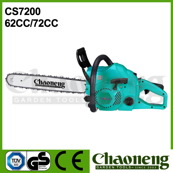 Chaoneng petrol/gasoline engine chain saw 62cc/72cc