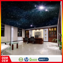 royal ceiling wallpaper 3d Star Universe design glitter wallpaper specail design for ceiling decor