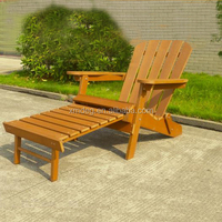 Wooden outdoor furniture Folding plastic Garden Polywood Adirondack chair with footrest