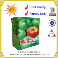 2014 new desgin eco material grocery non woven bag with zipper
