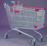 American style supermarket shopping trolley food cart