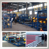 Building material hydraulic eps sandwich panel metal roofing tile machine
