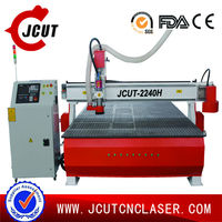 wood,MDF,PVC,Plastic high speed japanese yaskawa cnc router JCUT-2240 H