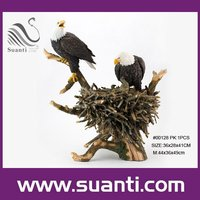Custom decorative animal resin largr wild animal bird statues for sale