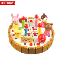 Educational wooden carton cake pretend play children kitchen toys sj5201