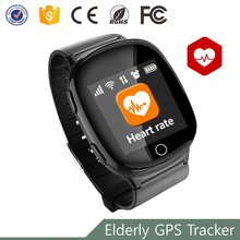 MT2503A Fashion Health Care Fall-down alarm sim card smart elderly golf gps watch tracking with heart rate monitor