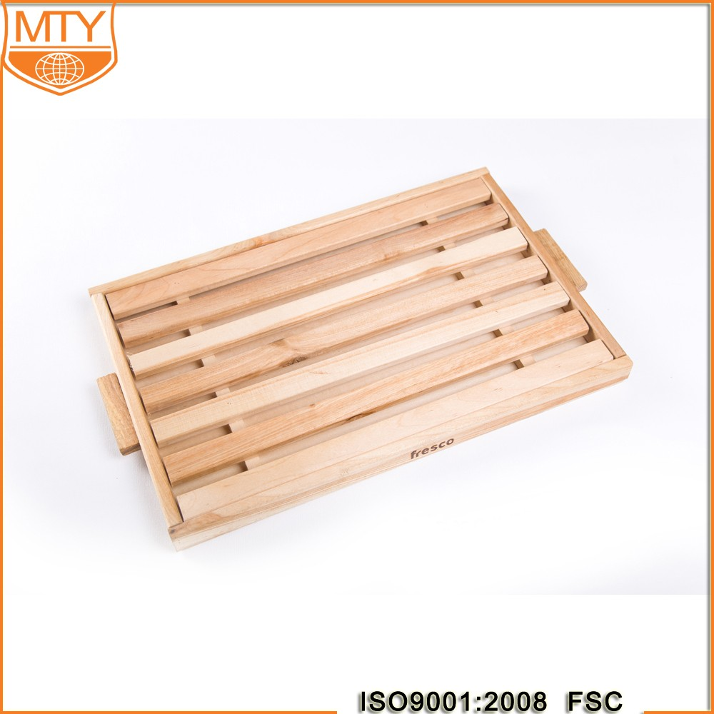 Chinese Tea Tray Fruit Bread Plate Sushi Rectangular Cake Baked Steak Wooden Pallets