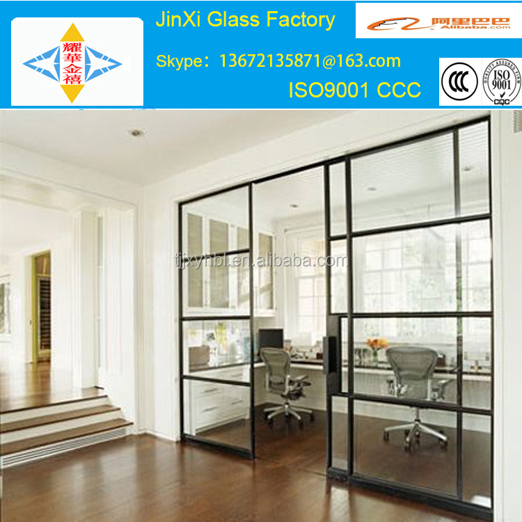 double pane thermal tempered glass doors/double tempered glass