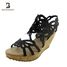 fashion women top beautiful bowknot hollow out high heel ladies sandals wholesale shoe