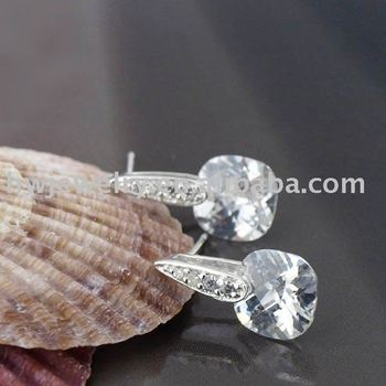 silver fashion earing