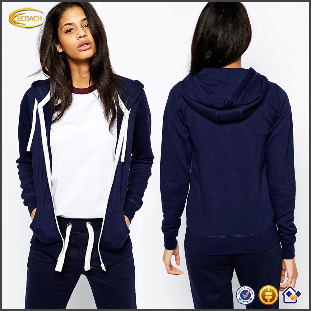 custom cheap fleece-back sweat Hooded neckline zip up women Hoodies, hoodies women, wholesale women hoodies