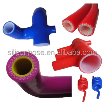 Silicone Rubber Hose / Silicone Tubing Manufacturer Customize Braided Silicone Hose / Hose with food grade lining.