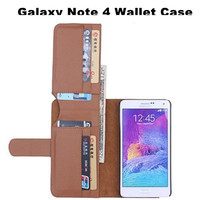 Hot Selling PU Leather Wallet Bag Book Stand Case Flip Cover For Samsung Galaxy Note 4 Multifunctional Phone Pouch Card Holder