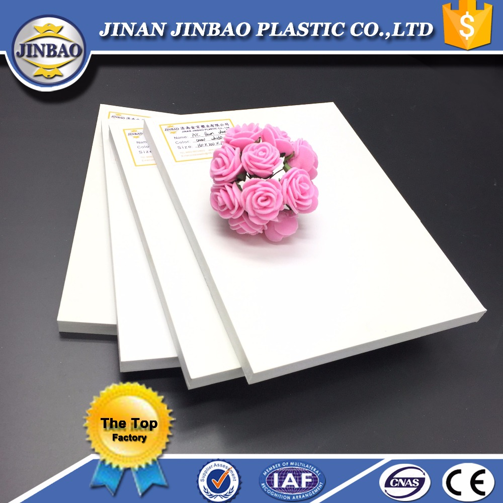 JINBAO 1220x2440mm sintra cutting boards lightweight pvc free foam board