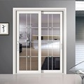 8 ft exterior commercial aluminum hidden sliding glass door
