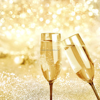 Golden Wholesale Acrylic Champagne Glass For Wedding Cocktails Birthday Party