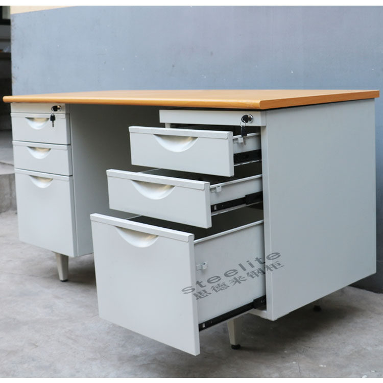 Double Side Drawers office desk dividers/office desk
