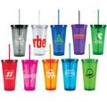 Transparent cups with lid and straw Disposable Plastic Cups