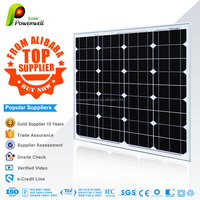 50w Monocrystalline fiexible solar panel china price with all certificates high quality and efficiency