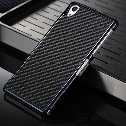 Factory hard case for sony z2, for sony z2 case cover,Carbon Fiber Pattern Back Case bumper for sony z2