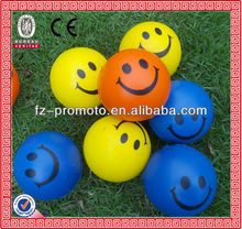 smile pu anti stress ball for gift