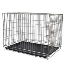 Life stages double door folding wire metal iron large midwest dog crates