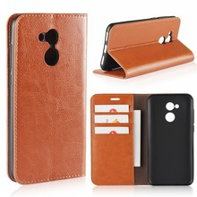 Factory Wholesale Business Luxury Pouch Stand Flip Cover Wallet Genuine Leather Case for Huawei Honor 6A with Card Holder