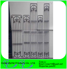 half wrought iron window guard grills design with glass insert