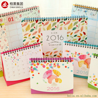 Wholesale 2016 2017 Cheap Full Color Printing Custom Table Desk Academic Calendar