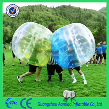 World wide fashionable sport bubble football, eco-friendly inflatable bubble ball body bumper ball