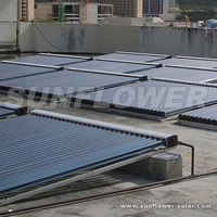 Split flat plate solar water heater collector