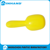 2016Hot-selling OEM logo Nontoxic PVC Inflatable Sports Game Yellow Hammer For Promotion