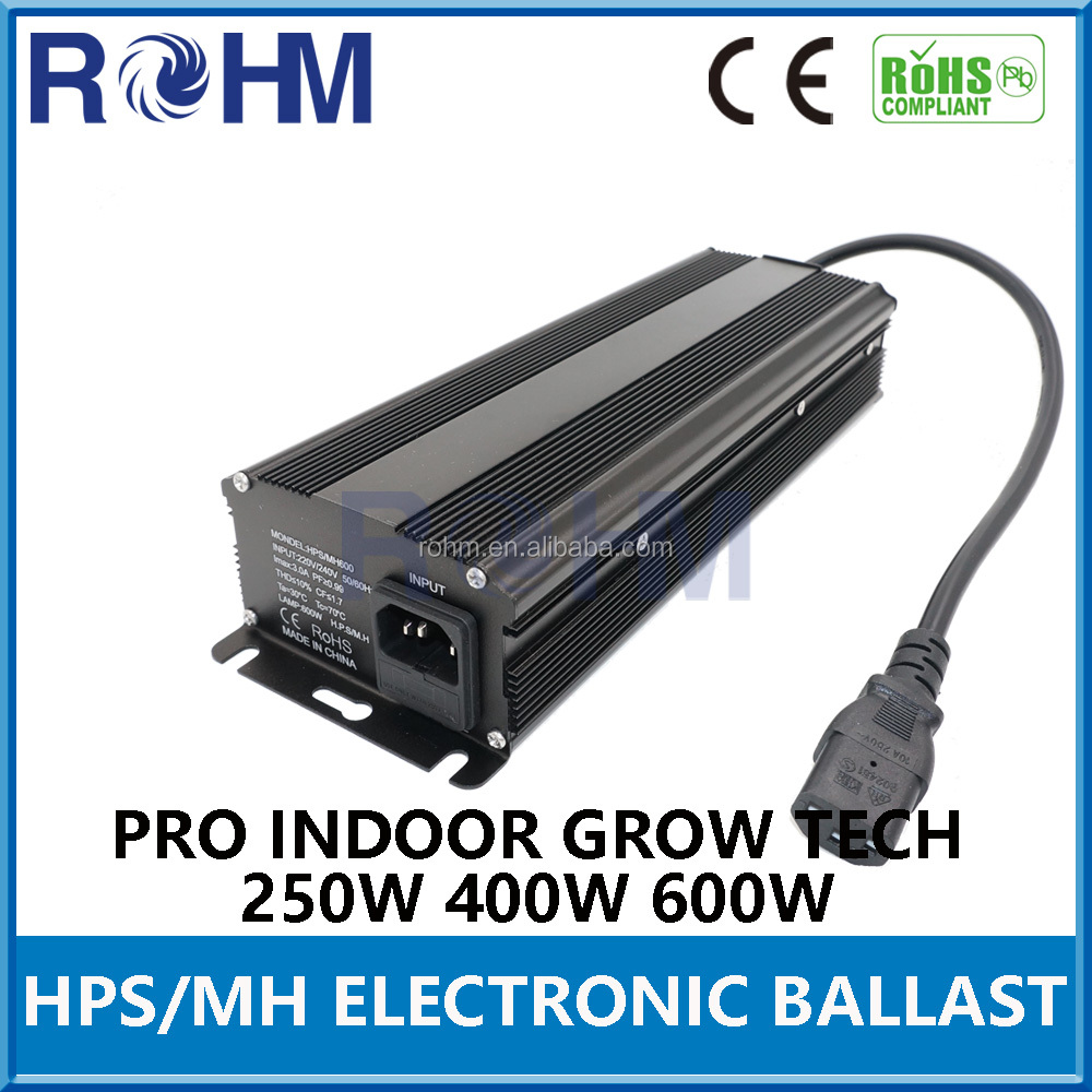 2017 New model HPS MH 250W 400W 600W Digital dimmable electronic ballast for indoor grow lighting