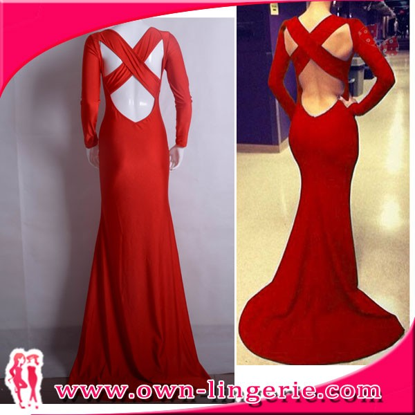 Top quality maxi bandage long sleeve maxi evening women long dress