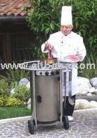 mobile party and event cooker, grill, bbq for home and garden