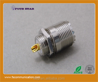 UHF Connector Female Rear Bulkhead with Receptacle