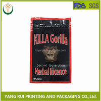 China Best Cheap Crazy Monkey 5G Herbal Incense Spice Bags