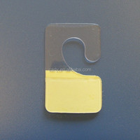 plastic pakaging J hook hang tabs