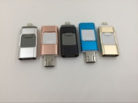 Slide otg usb pendrive 64gb for iphone and androil phone